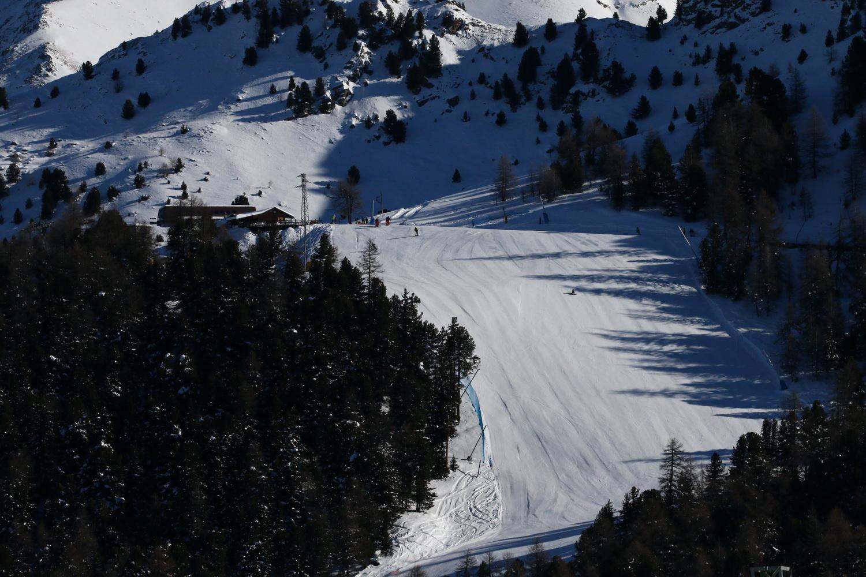 Il muro iniziale della pista Gorraz