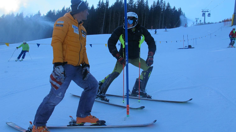 Fabrizio Cesamolo con Alessandro Zanotto, Ski Team Up