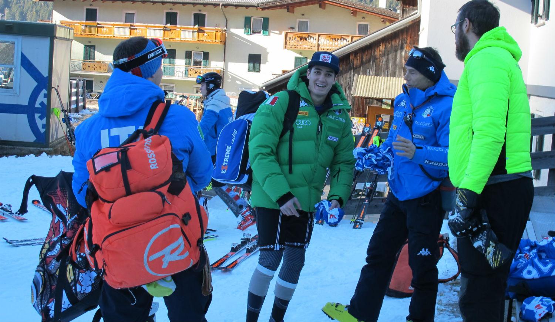 Tiziano Vuerich, Federico Liberatore, Alexander Prosch e Patrick Merlo prima del riscaldamento ©Gabriele Pezzaglia