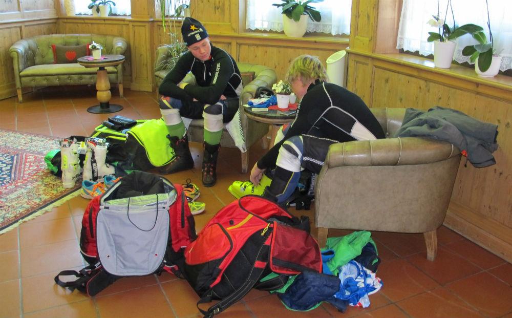 Gli svedesi all'Hotel Majare si preparano ©Gabriele Pezzaglia