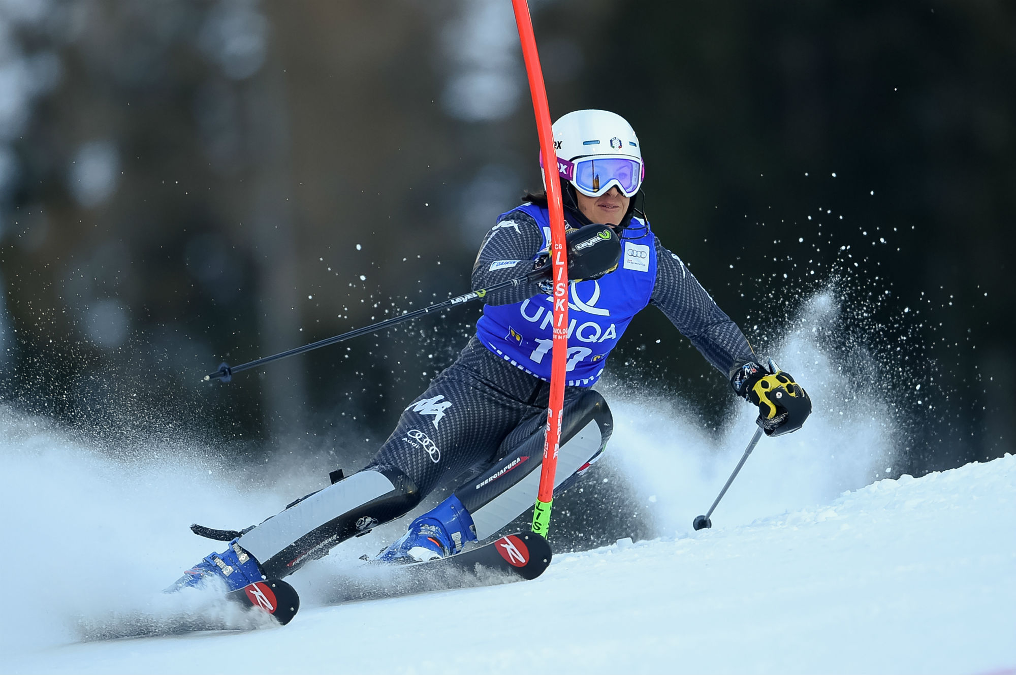 Irene Curtoni in azione in slalom a Semmering (@Zoom agence)