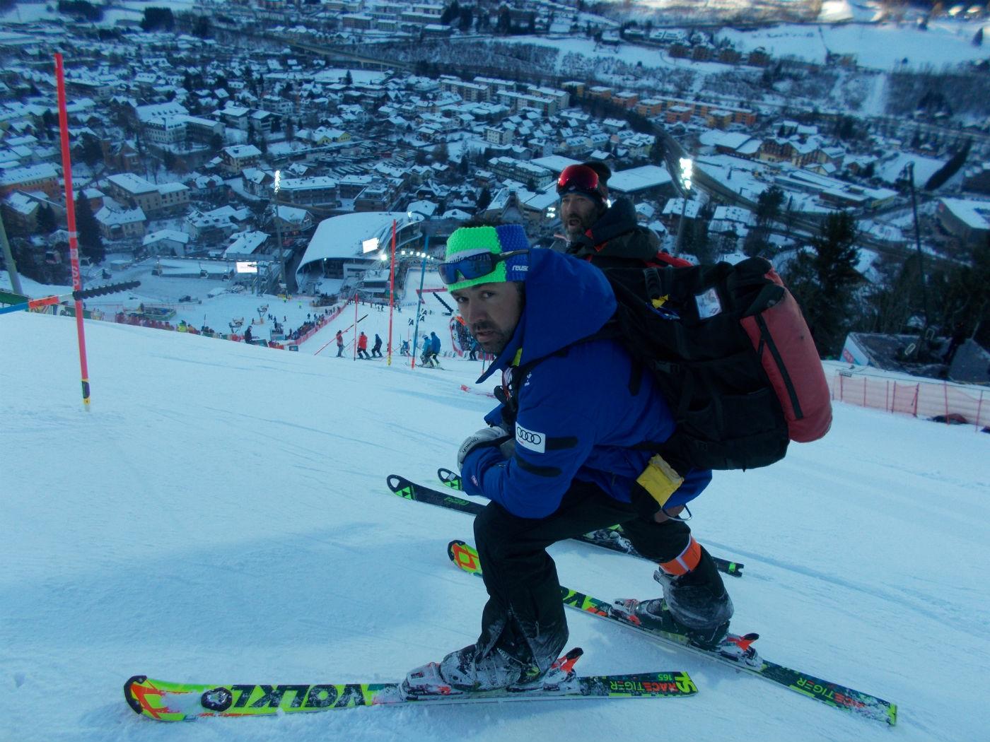 Il coach valdostano degli Svizzeri Matteo Joris all'attacco del muro ©Gabriele Pezzaglia