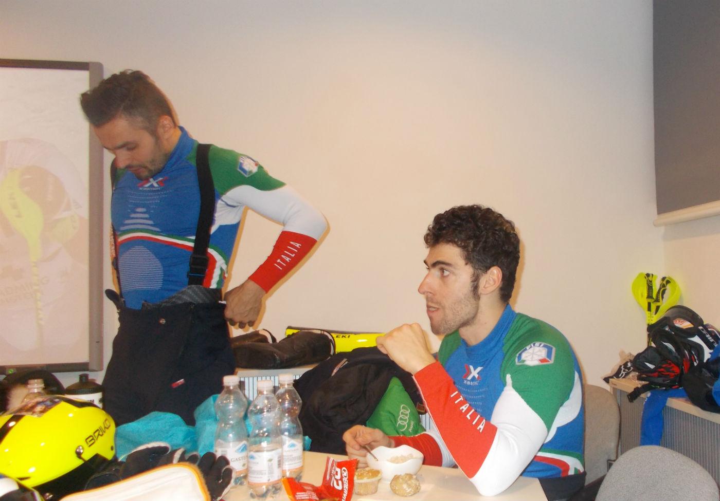 Patrick Thaler e Stefano Gross nel team hospitality ©Gabriele Pezzaglia