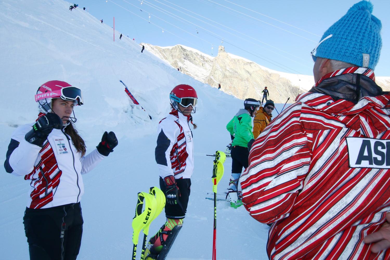 Sci Alpino, training ASIVA, Saas-Fee (SUI), 29/09/2016, CADIN Franco, ALBANO Giulia