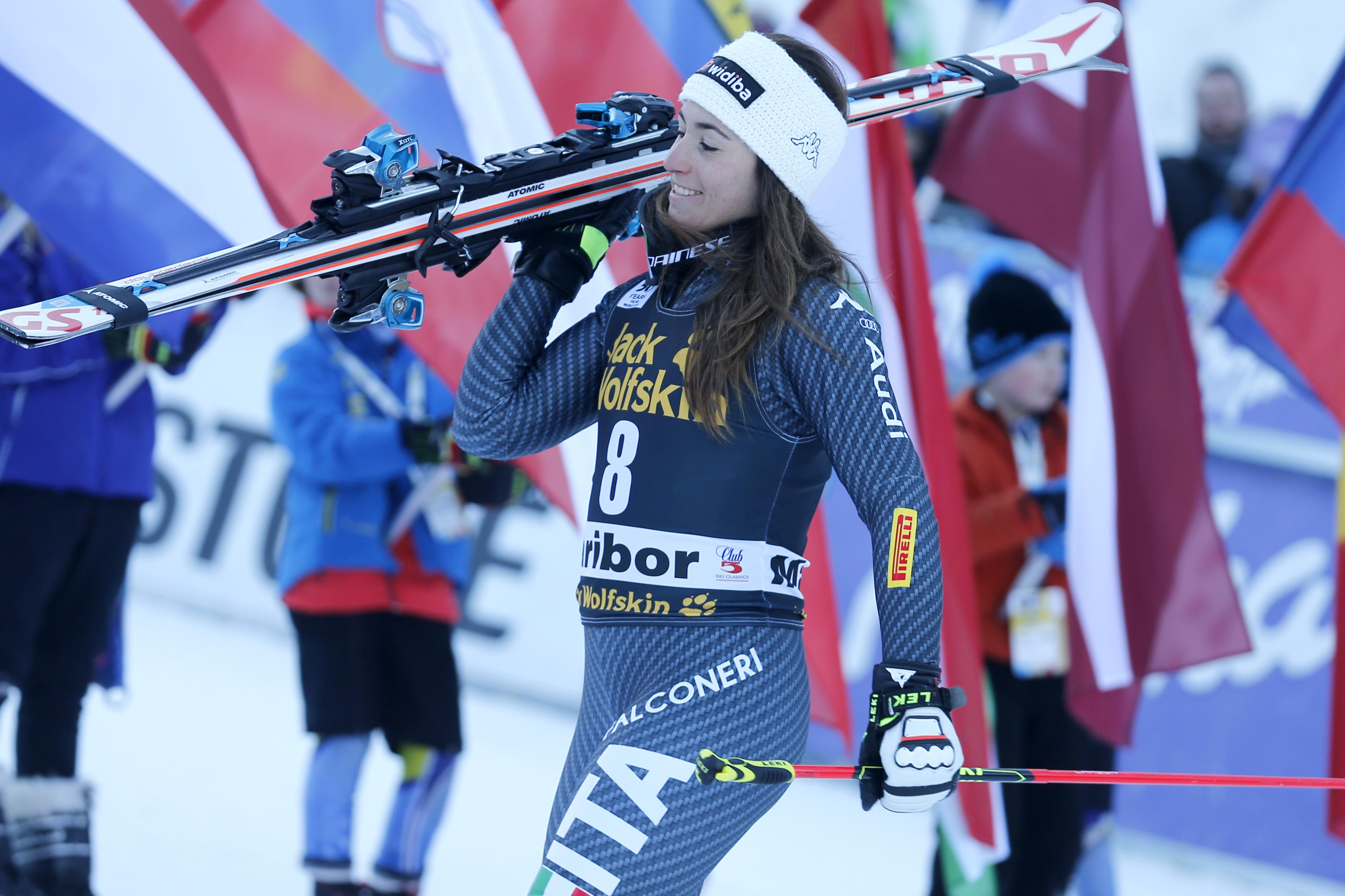 Sofia Goggia verso il podio a #Maribor (@Pentaphoto)