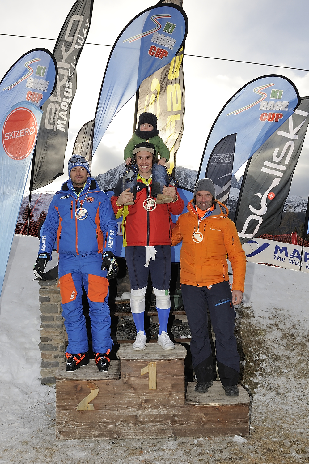 Podio Senior maschile ©Ski Race Cup