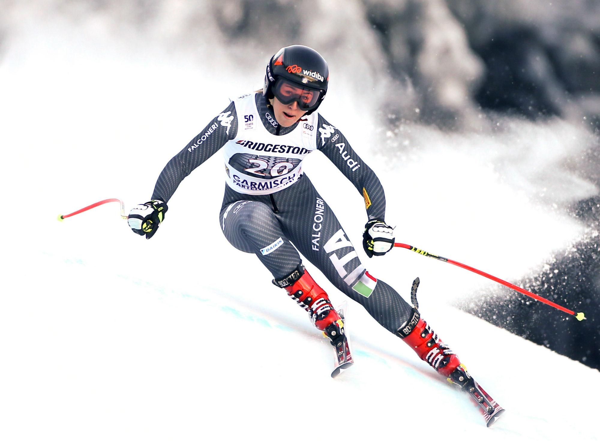 Sofia Goggia in prova a Garmisch (Gepa Atomic)