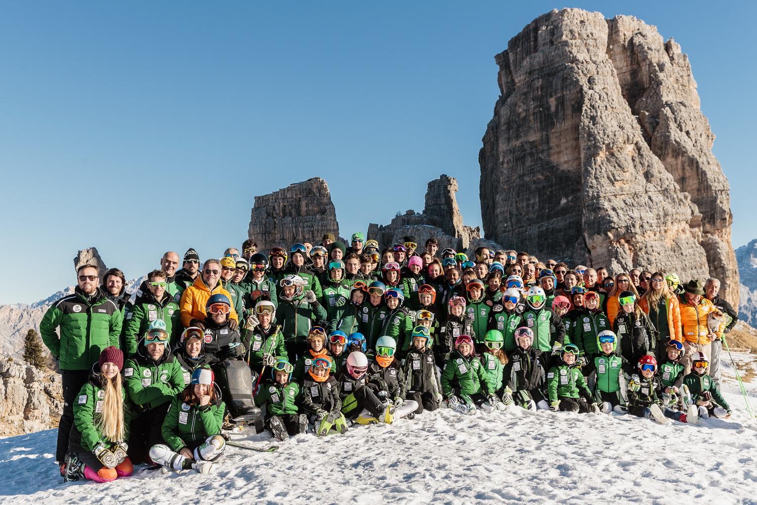 Una foto di gruppo del Drusciè-Cortina