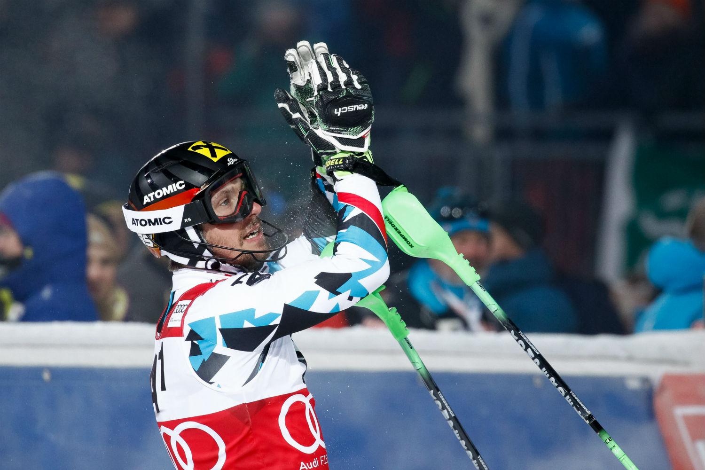 Marcel Hirscher applaude i tifosi austriaci ©Agence Zoom