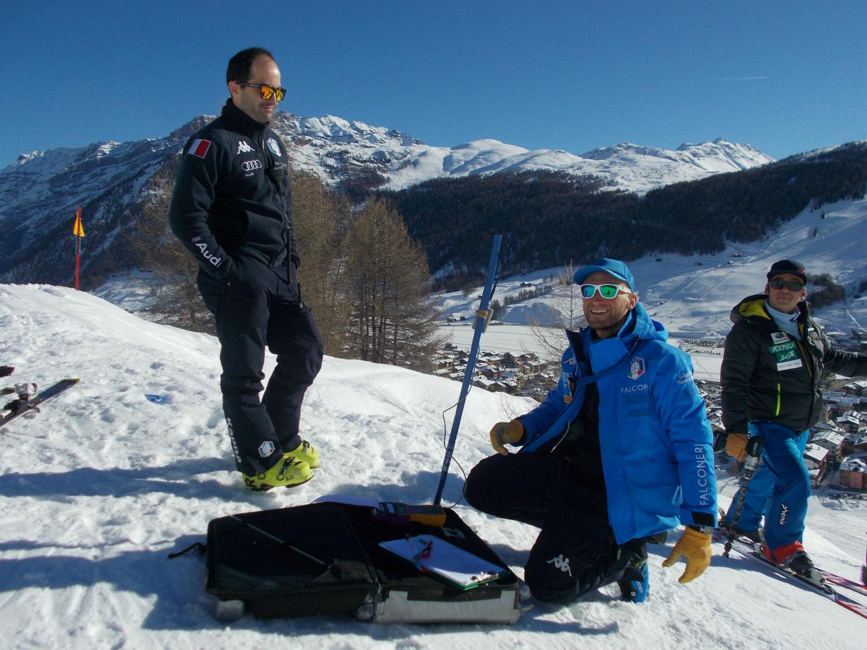 Andrea Viano e Matteo Guelfi in pista a Livigno ©Gabriele Pezzaglia