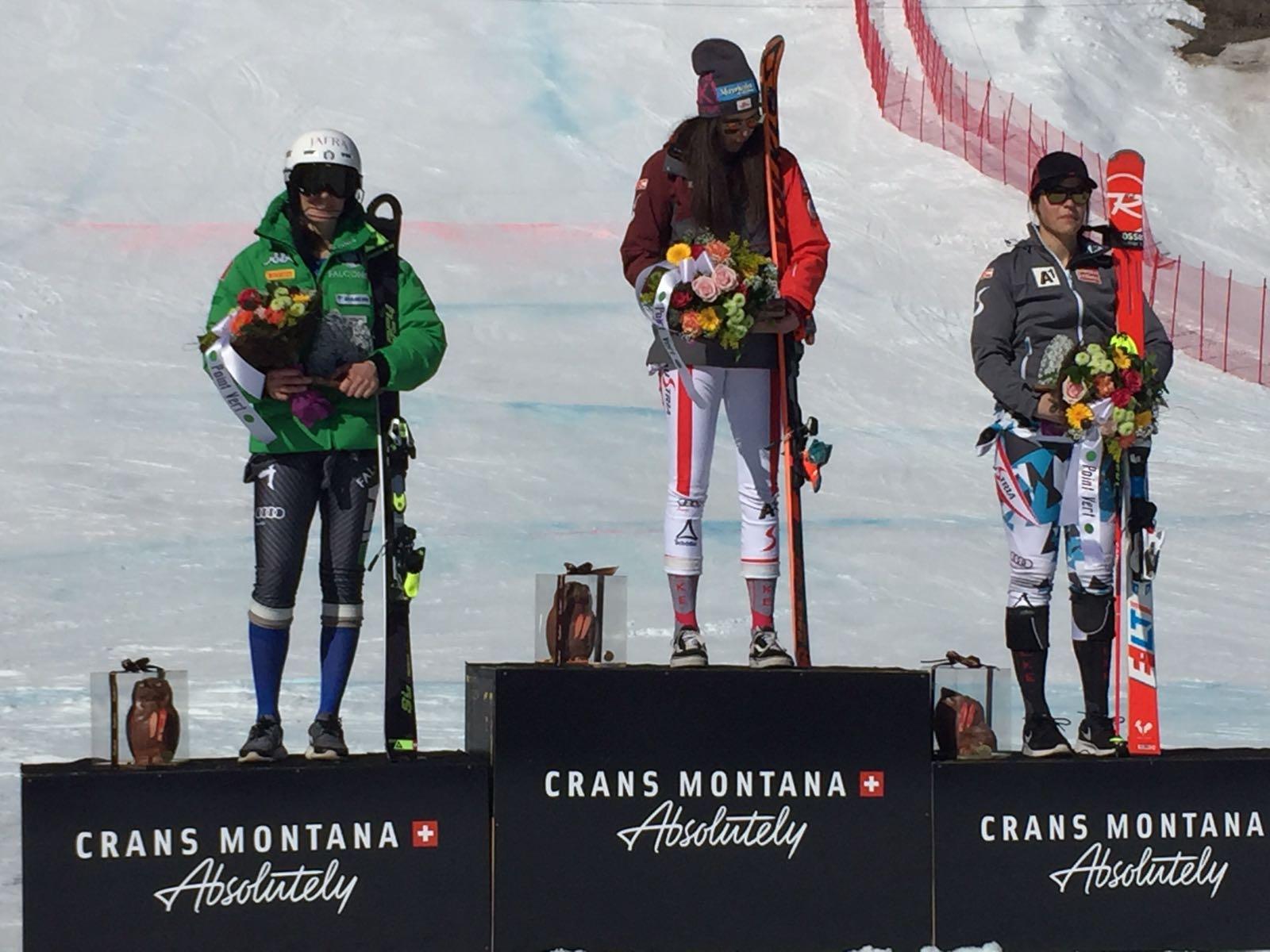 Sosio, Schneeberger e Fest sul podio della combinata alpina a Crans Montana il 20 febbraio 2017