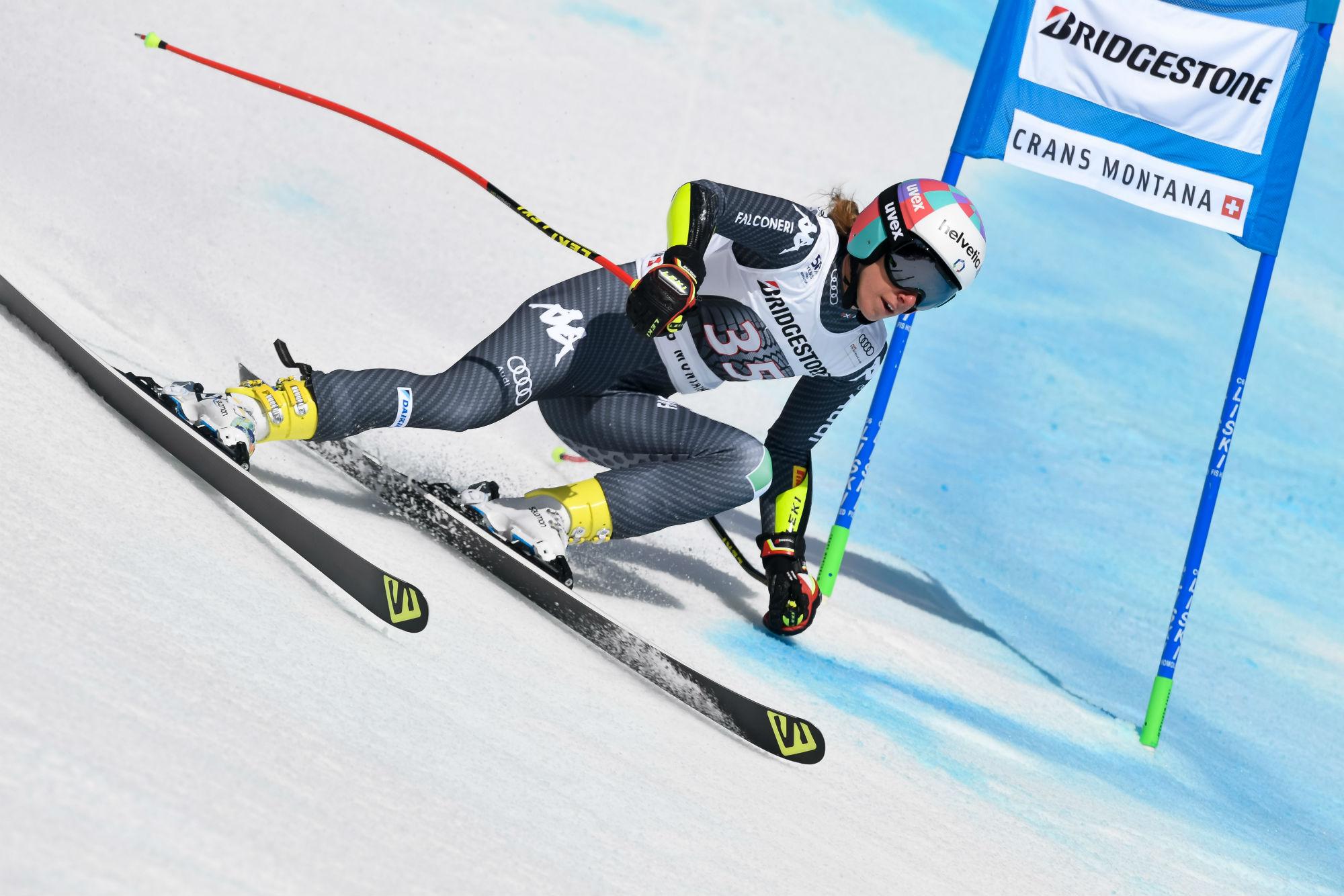 Marta Bassino in azione in superG (@Zoom agence)