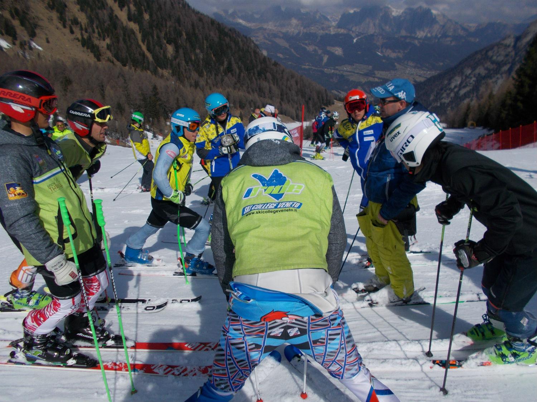 Ski College Falcade in pista al Lusia ©Gabriele Pezzaglia