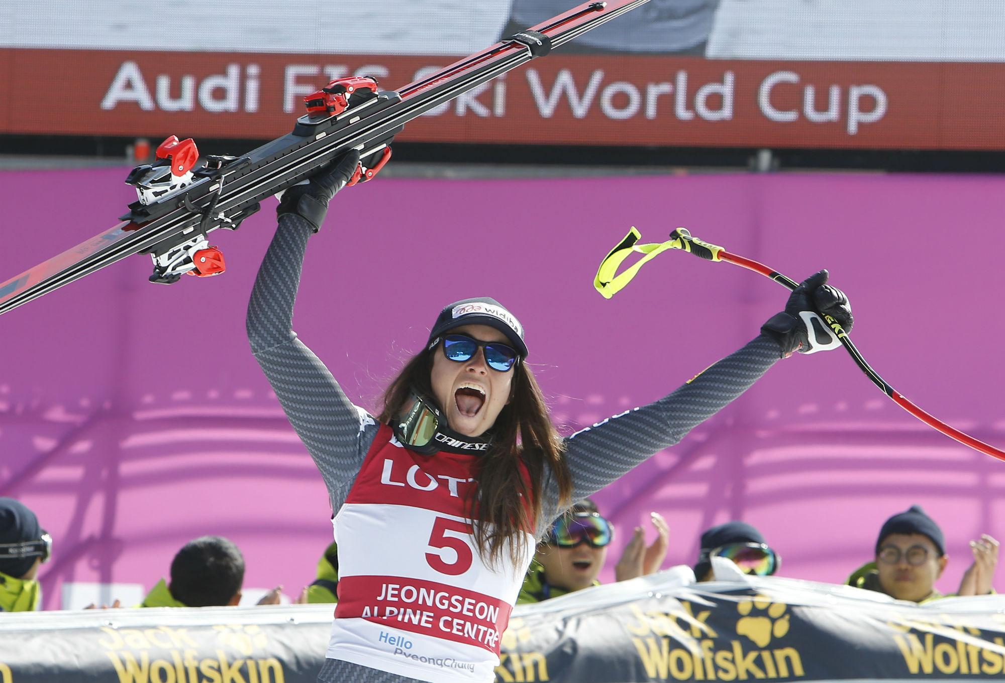 Sofia Goggia in trionfo a Jeongseon (@Zoom agence)