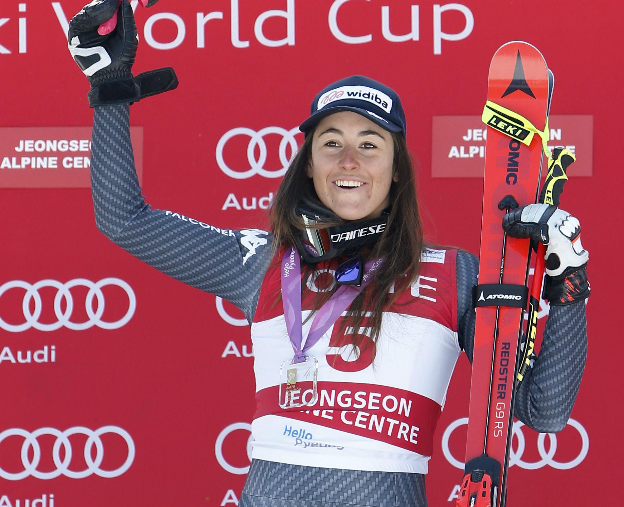 Sofia Goggia, prima vittoria in Coppa del Mondo. A Jeongseon sulla pista olimpica (@Zoom agence)