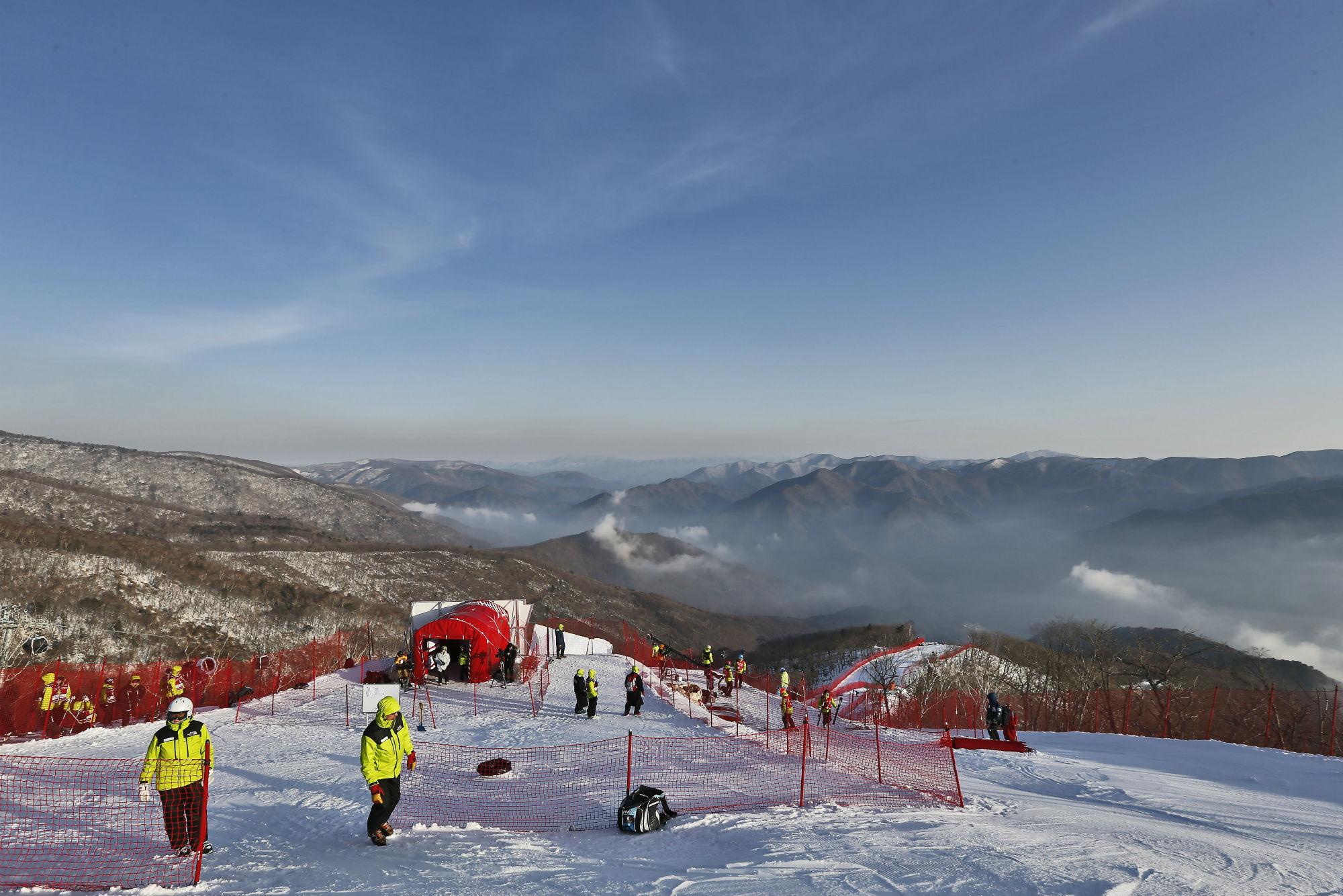 Immagini dal tracciato olimpico di Jeongseon (@Zoom agence)