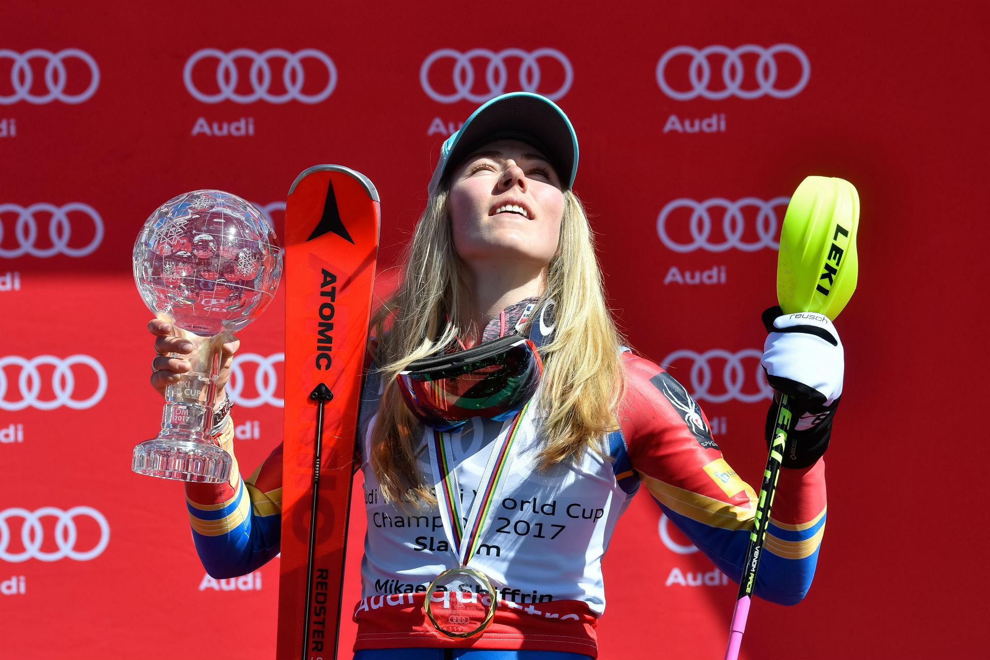 Mikaela Shiffrin, quarta Coppa di slalom a 22 anni... (@Zoom agence)