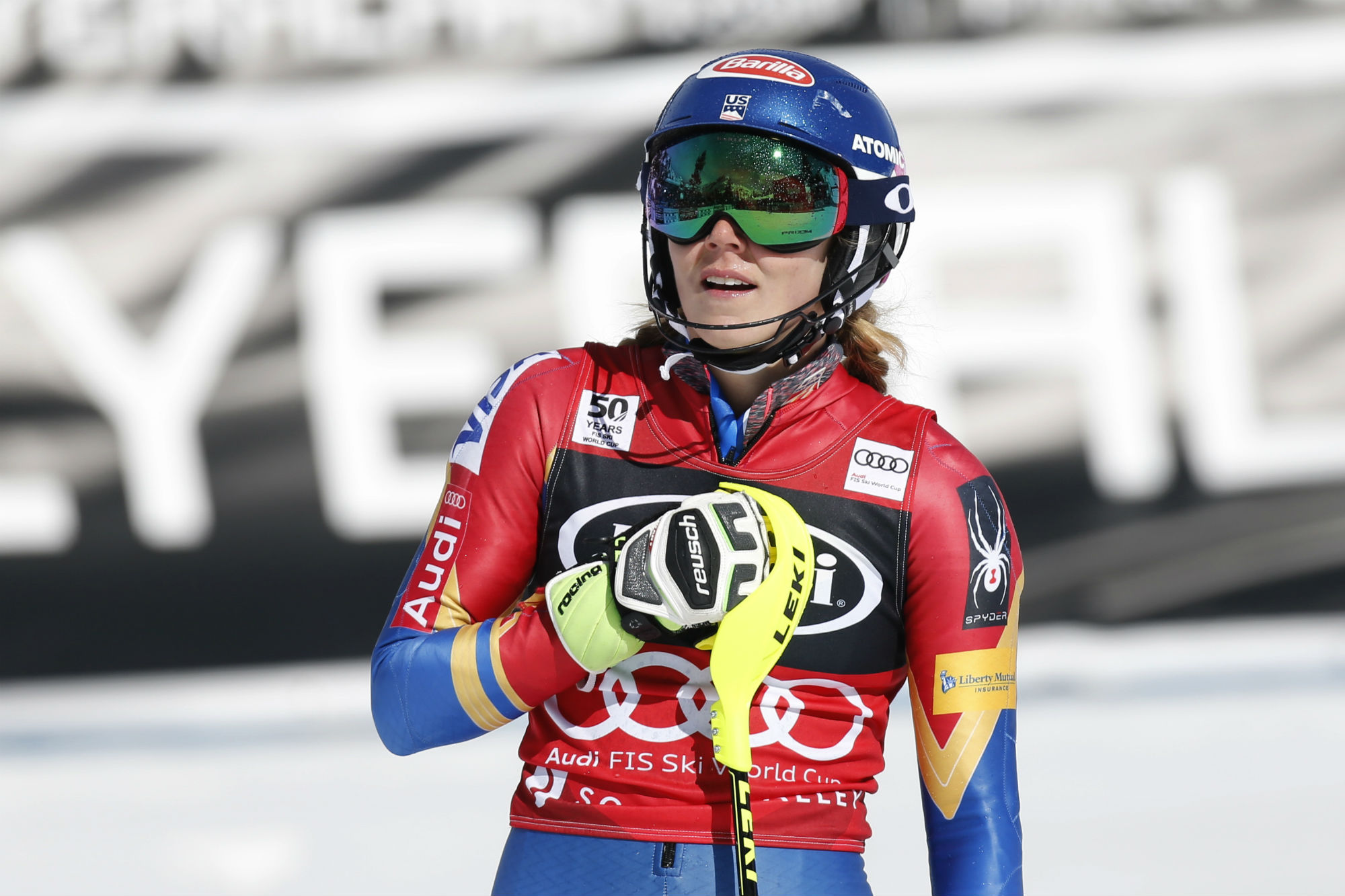 Mikaela Shiffrin in trionfo a Squaw Valley anche in slalom (@Zoom agence)