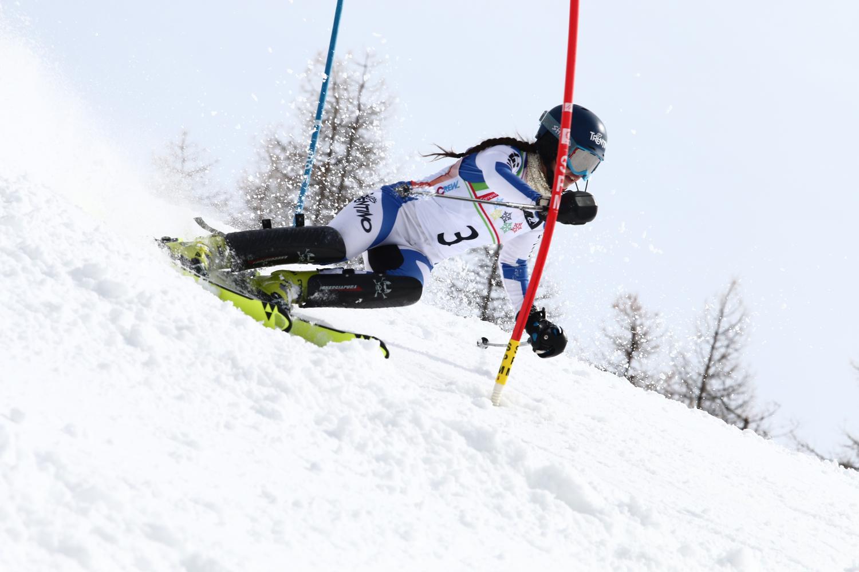 Marta Rossetti nello slalom di Sansicario
