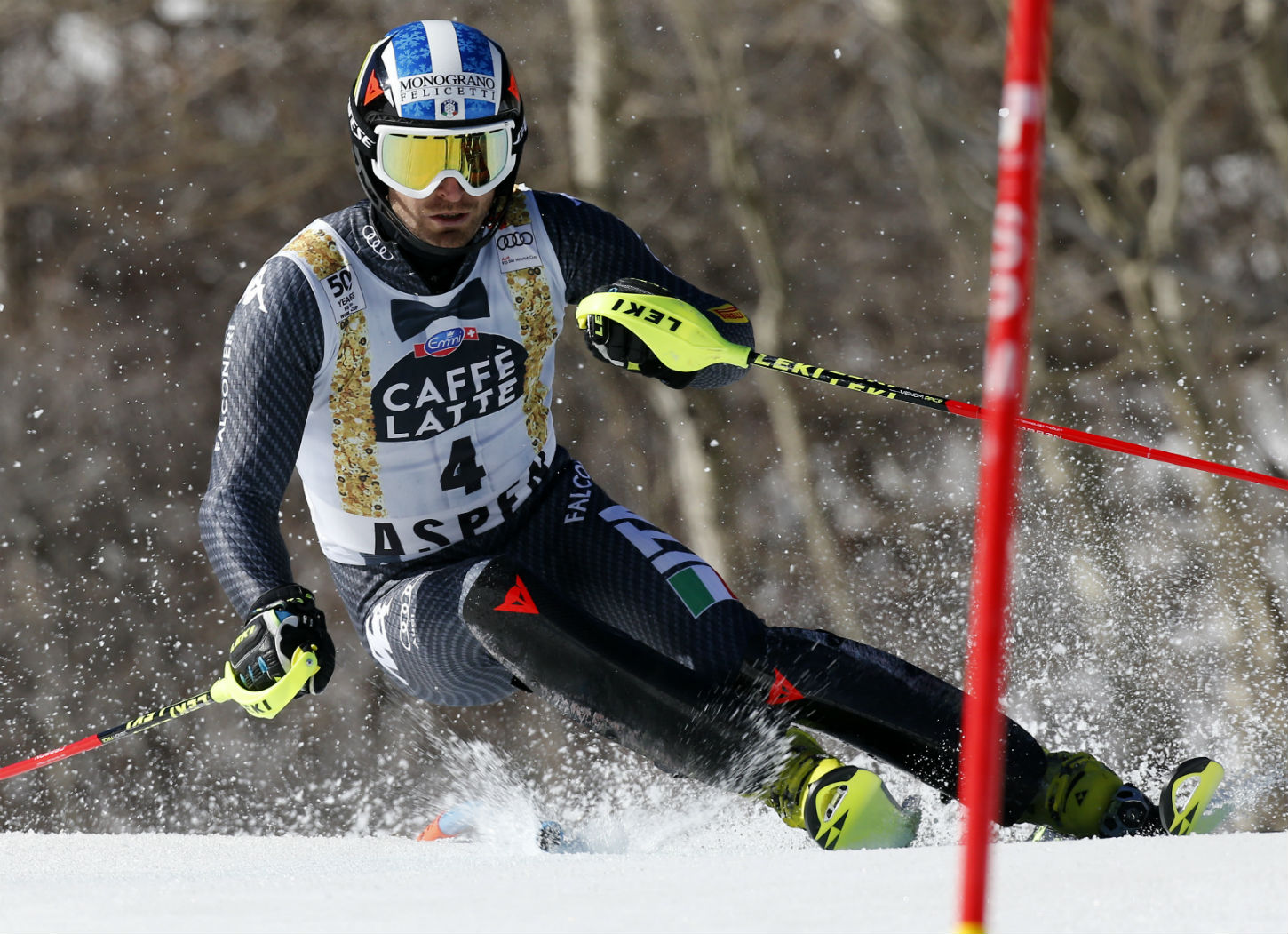 Manfred Moelgg in azione ad Aspen ©Agence Zoom