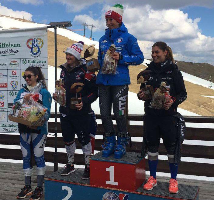 Tilley, Costazza e Fiorano sul podio, anche se a gradini invertiti, del secondo slalom FIS in Gardena