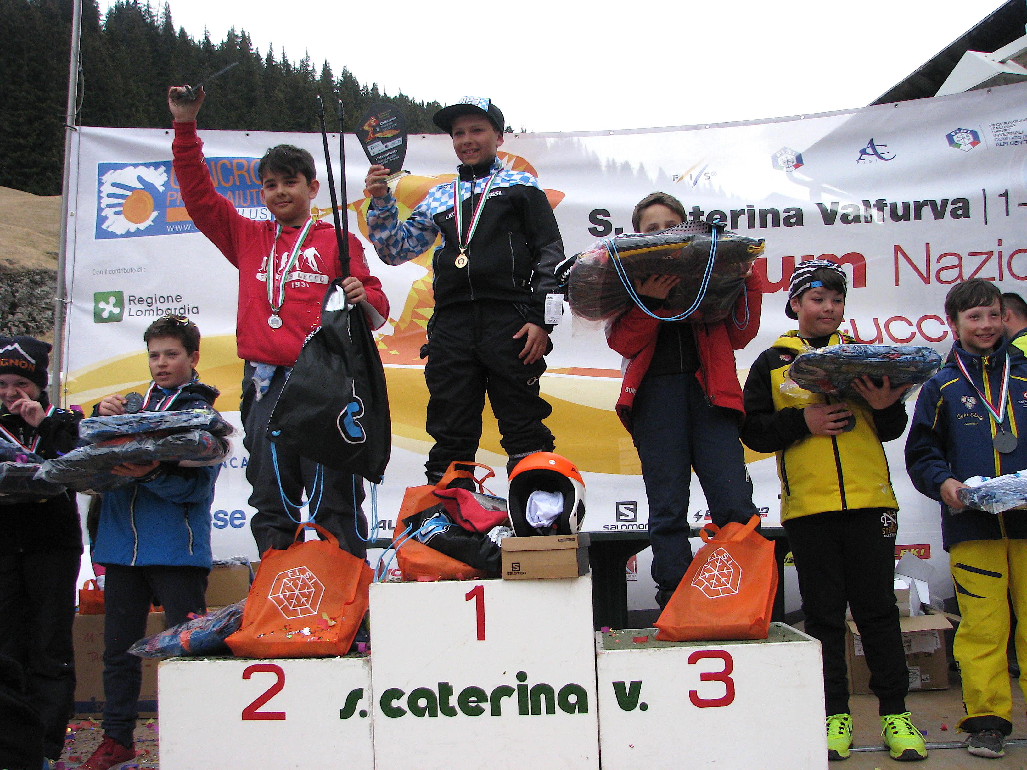 Podio maschile skicross 2005