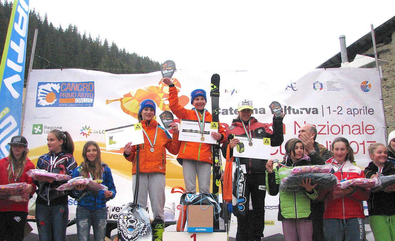 Podio skicross 2005 femminile