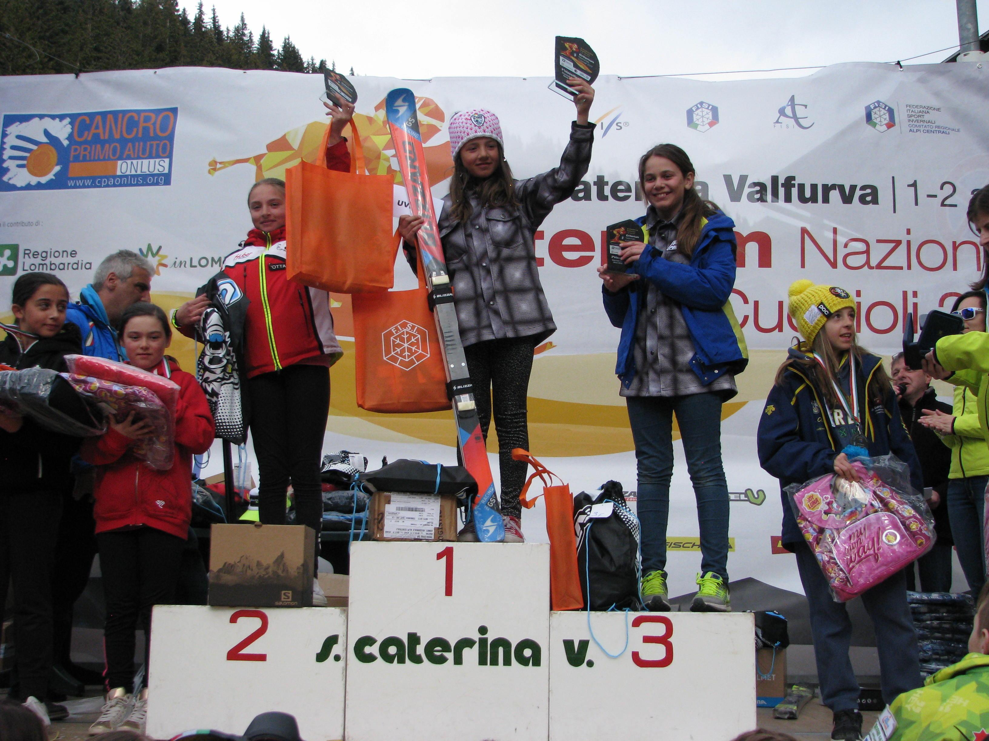 Podio 2006 slalom femminile