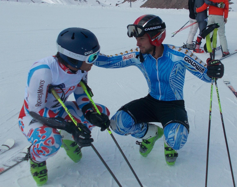 Jacopo Di Ronco e Nicola Quaquarelli dopo la prima manche ©Gabriele Pezzaglia